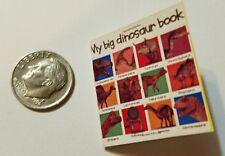 Miniature Dollhouse Action Figure  book Barbie 1/12 Scale Dinosaur Book 22