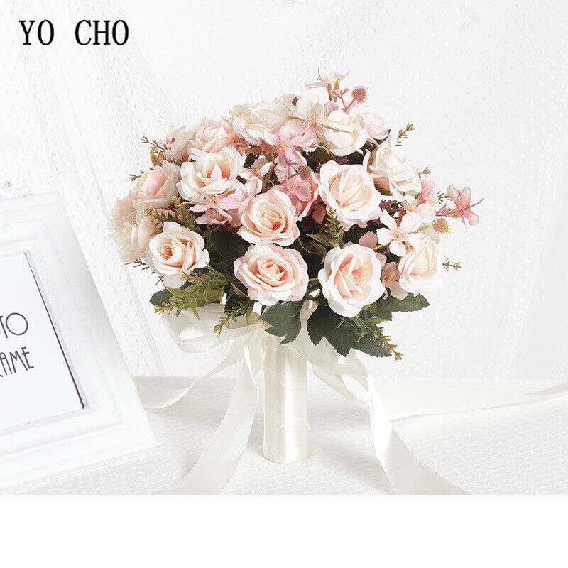 59 Kinds Wedding Bouquet Handmade Artificial Flower Rose Bouquet