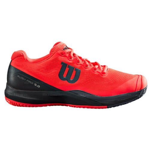 Wilson Rush Pro 3.0 Men/'s All Court Chaussures de tennis Sports Athletic Rouge WRS325890
