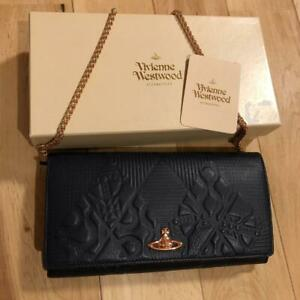 Vivienne-Westwood-HOGARTH-Wallet-Leather-Black-From-Japan-Free-shipping