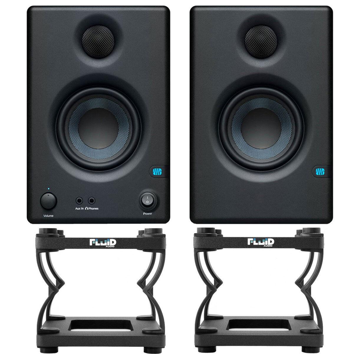 Presonus Eris 4.5 4.5 4.5 Studio Monitor-Boxen + Fluid DS5 Tisch-Stative 75e75f
