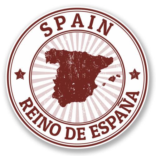 2 x Autocollant Vinyle Espagne iPad Portable Voiture Moto Bagages Voyage Espagnol tag # 4508