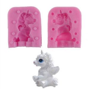 2pcs-set-3D-Unicorn-Silicone-Cake-Mould-Fondant-Molds-Baking-Decorating-tools-Cw