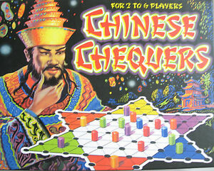 Chinese Checkers Oriental Design Board Game Sturdy Board