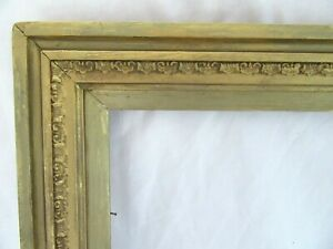 ANTIQUE-FITS-8-034-X-10-034-GOLD-PICTURE-FRAME-WOOD-FINE-ART-COUNTRY-PRIMITIVE-GESSO
