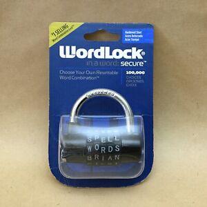 WordLock PL-004-BK 5 Dial Combination Padlock