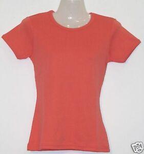 Girlie-T-Shirt-Uni-lachs-S-XXL