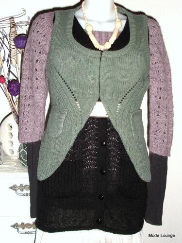M Gr 38 Nouveau Lesley Noa tricot Knit en Veste gilet Envy XRnqqUwI