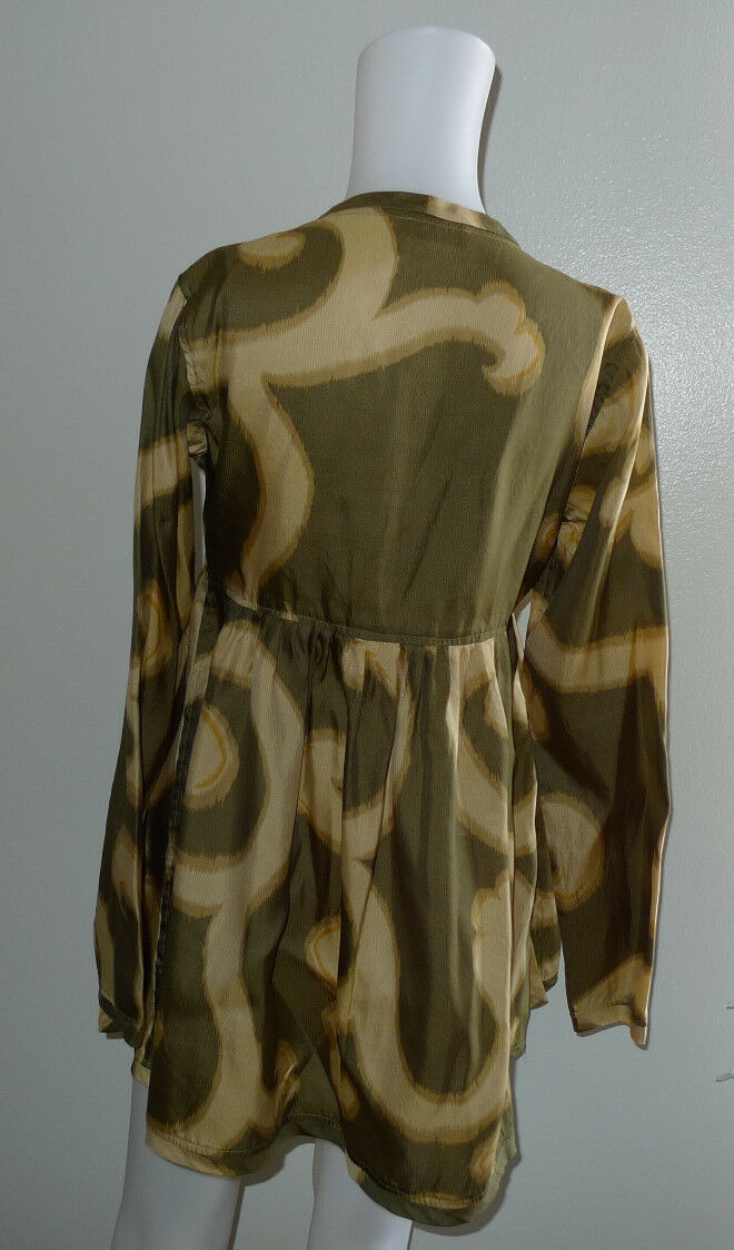 DRIES VAN NOTEN SIZE 38 100% SILK BLOUSE TUNIC TO… - image 7