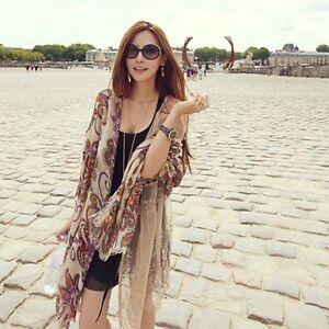 Bohemian-Women-Soft-Chiffon-Stole-Silk-Scarf-Shawl-Travel-Modeling-Wrap