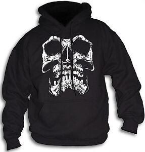 Skull-Biker-Gothic-Pirate-Grunge-Distressed-Mens-Hoody-Hooded-Top-Sm-2XL-Front