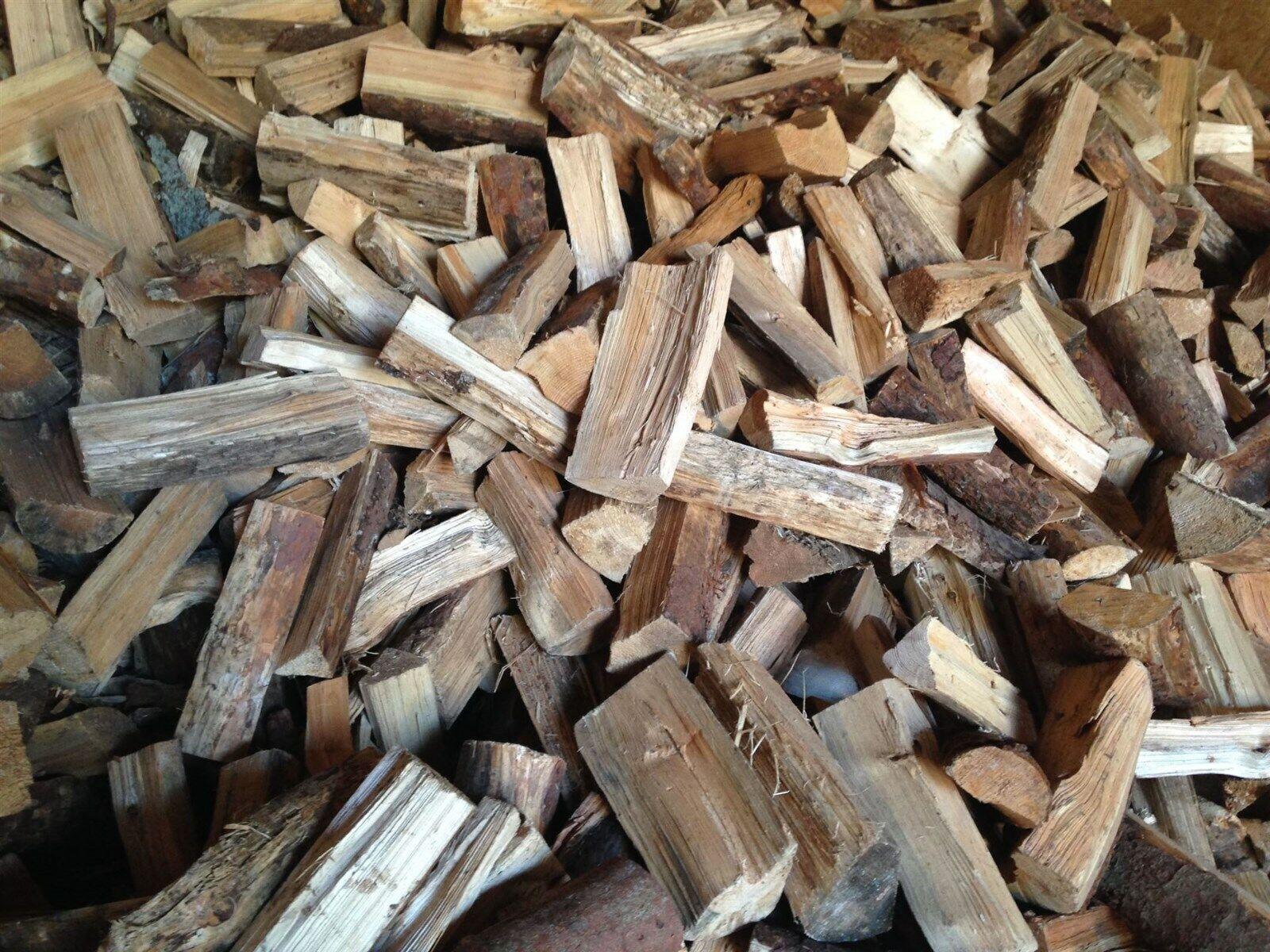 Brennholz 1 SRM Kiefer Fichte gespalten getrocknet und gesägt
