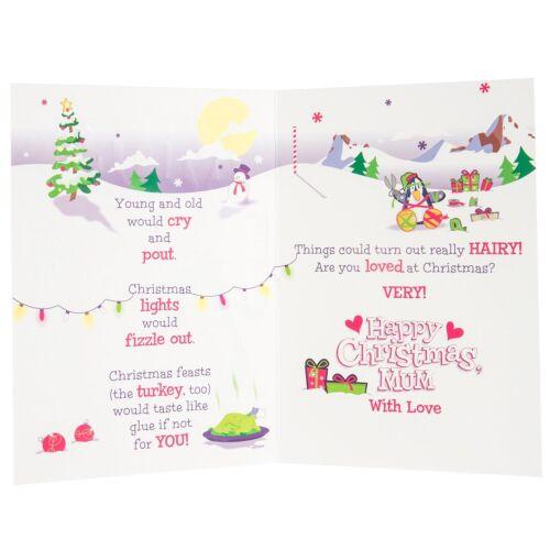 """Hallmark Noël Carte de vœux à maman /""""avec amour/"""" cadeau de Noël nouvelle maman mère"""