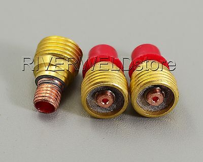 """3pcs 1.6mm 1/16"""" 45V43TIG WP-9 20 Gas Lens Collet Body"""