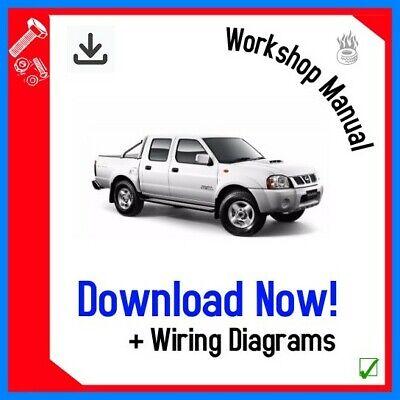 Workshop Repair Manual For Nissan Pickup Navara D22 Series 1998 2006 Download Ebay