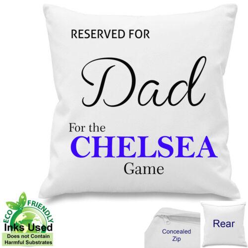 """Personnalisé Chelsea Fan De Football Coton Coussin papa tout nom 18/""""x 18/"""""""