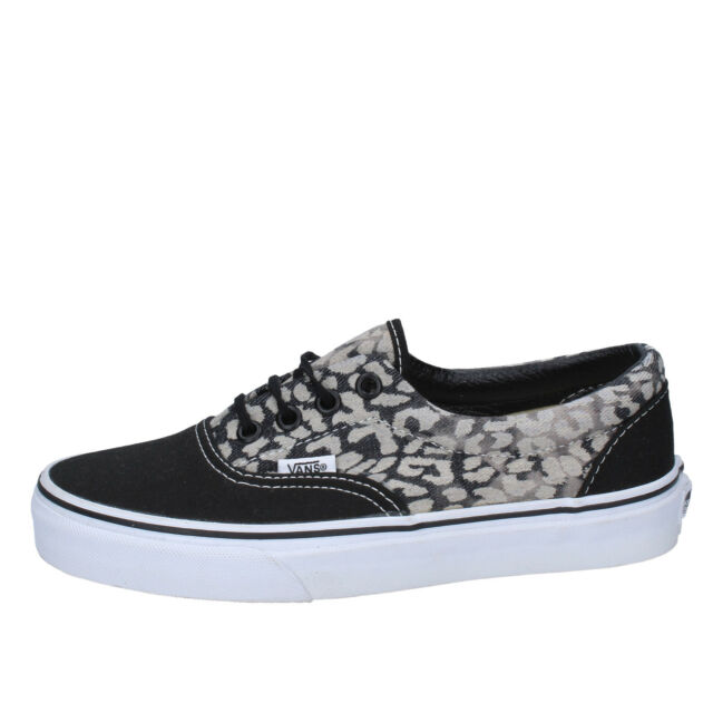 Sneakers Leopard 36 Scarpeshoes Vans Black N 37 Era Washed Donna oeWrdBCx