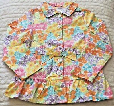 5-6 NWT GYMBOREE BURST OF SPRING CORAL TRENCH COAT XS 7-8 3-4 M S
