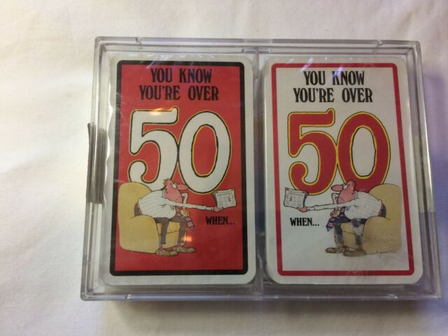 You Know You're Over 50 When... Playing Cards 2 Decks Funny Comic Unique Sealed
