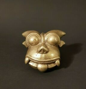 Superbe-masquette-en-bronze-Inde-XIX-eme-siecle-Art