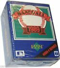 (2) FACTORY SEALED 1989 UPPER DECK BASEBALL CARD COMPLETE BOX HIGH # SERIES SETS
