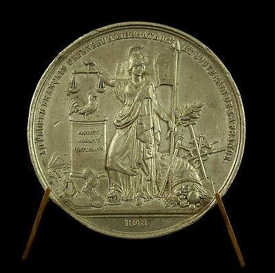 Beducht Médaille Etain Hommage Au Peuple Français Révolution De 1848 45 Mm 31 G Medal