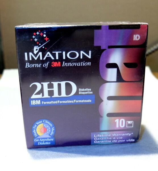 "1 Box - Imation 2hd 3.5"" Disks - Ibm Formatted - 1.44mb - Unopened/sealed Betrouwbare Prestaties"