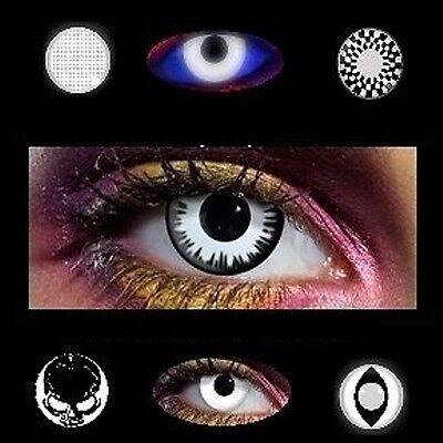 Lentille de couleur blanc noir black & white lens color contact us + 400 modeles