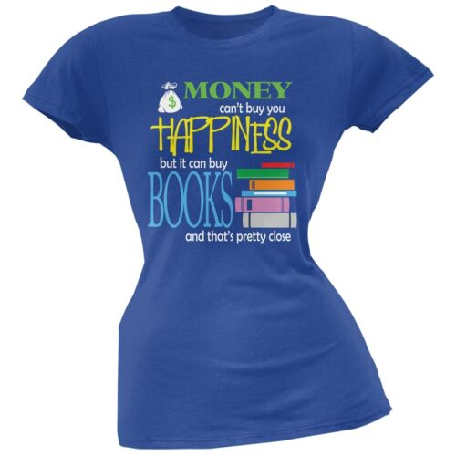 Money Happiness Books Funny Royal Juniors Soft T-Shirt