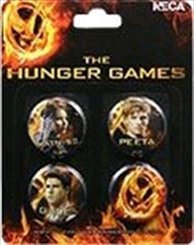The Hunger Games - Pin Set of 4 Cast | NECA | Brand new & sealed l  Katniss Peta