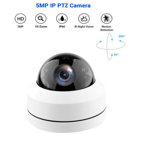 5MP 1080P POE IP PTZ Kamera Netzwerk 5X Zoom Onvif Night Vision Waterproof H.265