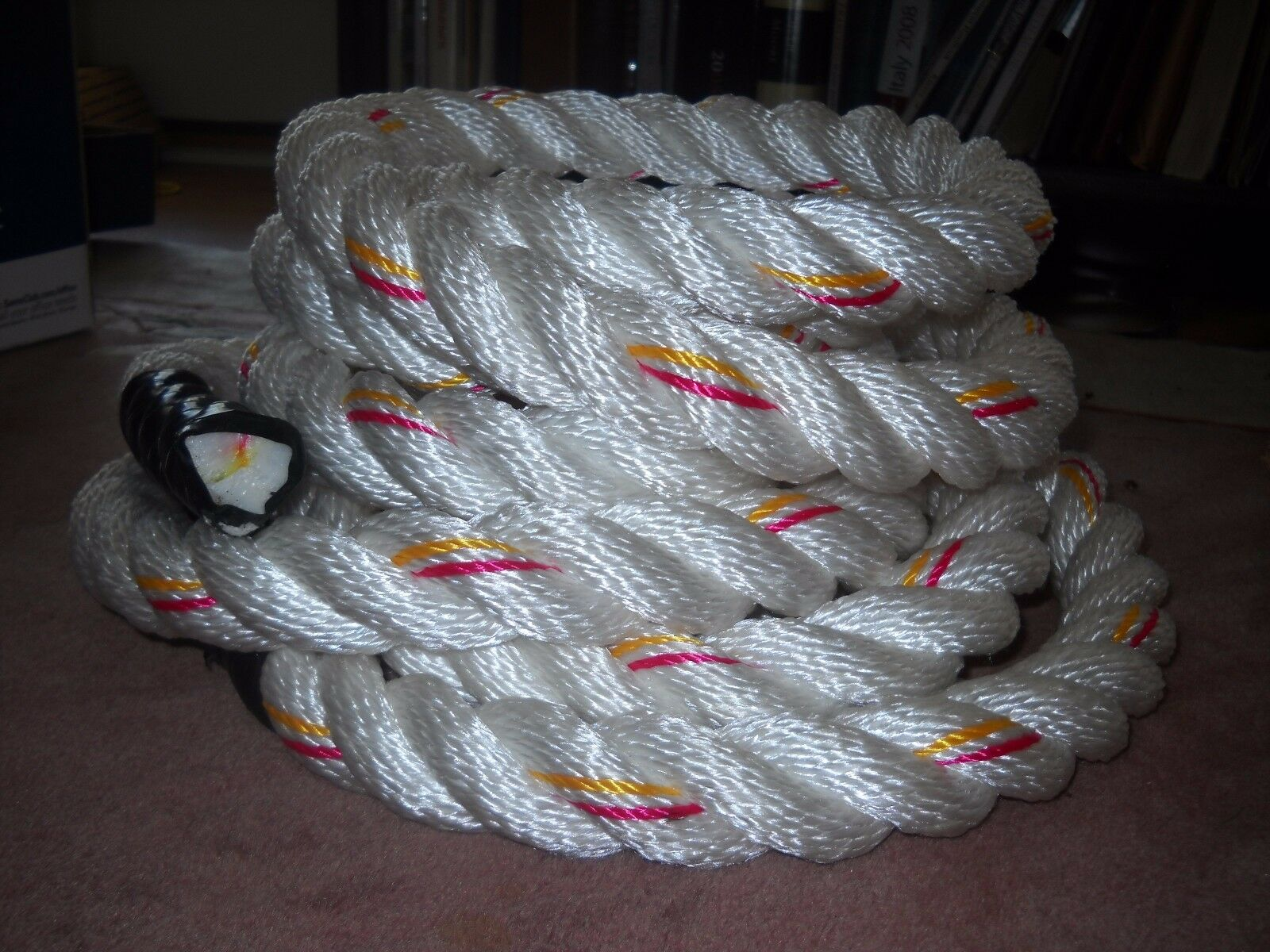 WORKOUT Rope TWO 1 1/2 x 12 Polydacron GYM Climbing TWO Rope ROPES  Shipped FREE e0368e