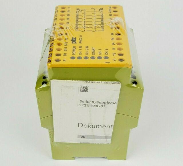 PILZ 774080 Safety Relay PNOZ 11 24VAC 24VDC 7n/o 1n/c, New Sealed!
