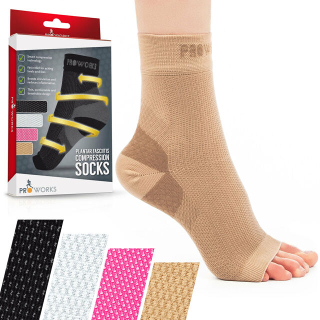 8efc2d8fec Proworks Plantar Fasciitis Compression Socks Heel Foot Arch Pain ...