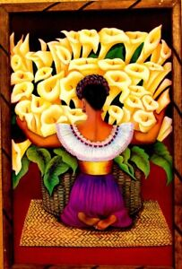 Print-Painting-Mexico-Art-Framed-Diego-Rivera-034-Vendedora-Alcatrazes-36-034-X24-034-Huge
