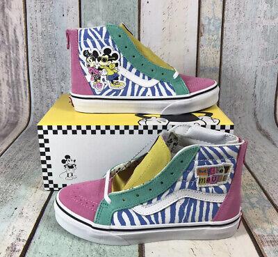 Vans Disney Sk8 Hi Zip Zipper Années 80 Mickey Minnie Mouse 90th Kids Toddler UK2.5   eBay
