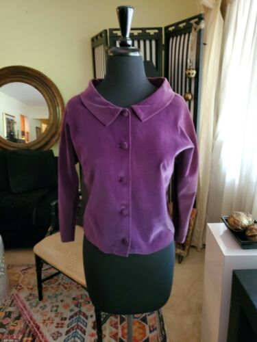 Vintage 50s Nelly de Grab New York Purple Velvet J