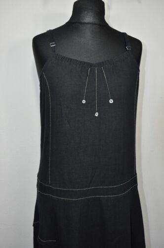 Elisa Cavaletti  Linen Long Black Dress size XL