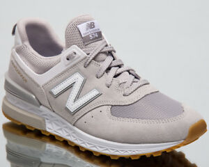 New Balance 574 Sport Men Sneakers Rain Cloud White Lifestyle Shoes ... 5679d3e8a