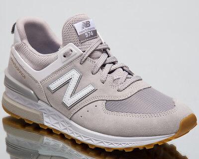 New Balance 574 Sport Men Sneakers Rain Cloud White Lifestyle Shoes MS574 FCG   eBay