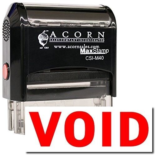 Red Ink Large Self-Inking Void Stamp MaxStamp