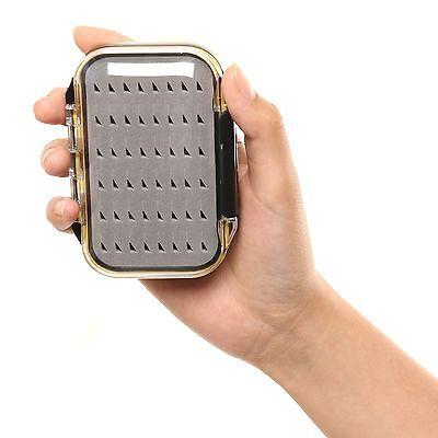 Pocket Fly Box Waterproof Double Side Clear Fly Fishing Box Easy Grip Foam