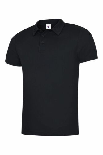Mens Sports Poloshirt UNEEK UC125 Ultra Cool Breathable Gym Running Polo Shirt T