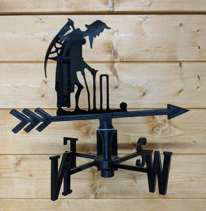 Father Time Lords Cricket Acrylic Garden Weather Vane Wall, Pole or Post Mounted