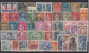 FRANCOBOLLI-1930-38-FRANCIA-LOTTO-FRANCOBOLLI-USATI-Z-4424