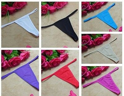 New Plain Color Women's Sexy Thong G-string Lingerie Underwear Knickers