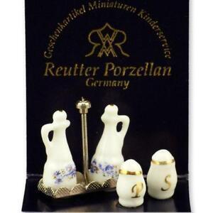 SALE-Dollhouse-Cruet-Set-1-942-0-Reutter-Porcelain-Salt-amp-Pepper-Miniature