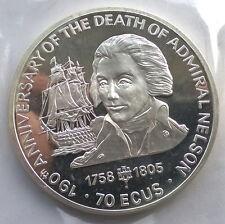 Gibraltar 1995 Nelson HMS Victory 70 Ecus 5oz Silver Coin,Proof