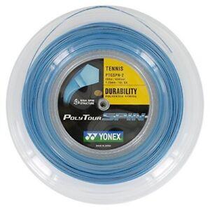 Yonex-Tennissaite-Poly-Tour-Spin-1-25-200m-Rolle-blau