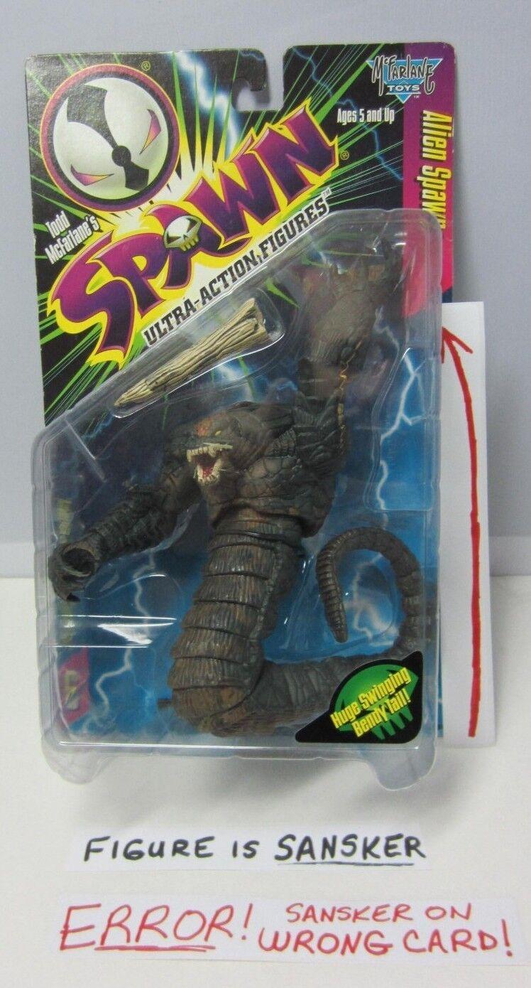 ¡No dudes! ¡Compra ahora! Todd Mcfarlane Spawn Serie 6 error Sansker en en en los bordes de desgaste de la tarjeta de Alien Spawn LT  comprar nuevo barato